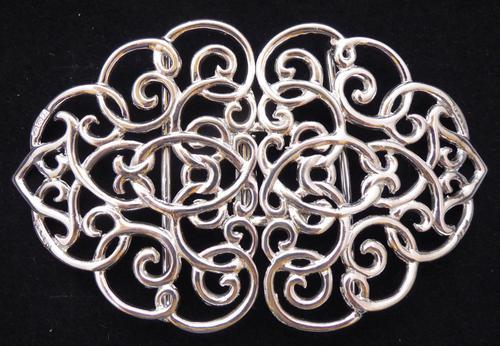 Edwardian Chester 1901 Hallmarked Solid Silver Nurses Belt Buckle Rare (1 of 6)