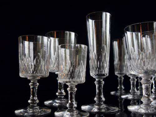 Baccarat Crystal 29 piece Cylindrique suite Richelieu pattern c1916 (1 of 5)