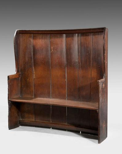 George III Period Oak Settle (1 of 4)