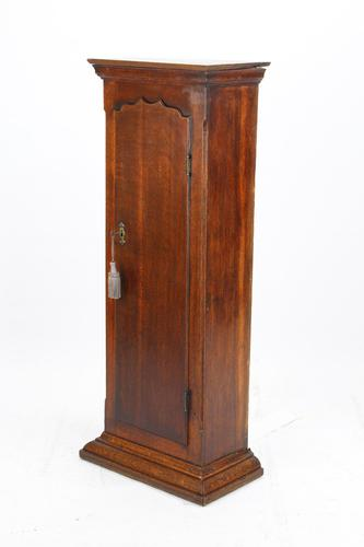Slim Georgian Oak Hall Cupboard (1 of 13)