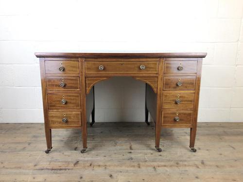 Antique Edwardian Inlaid Mahogany Desk (1 of 12)