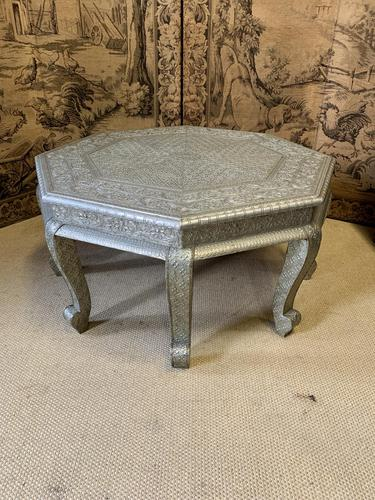 Indian Silvered Coffee Table (1 of 6)