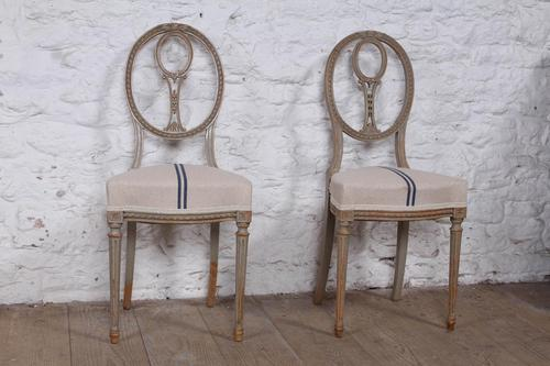 Very Pretty Pair of Newly Upholstered French Chairs (1 of 5)