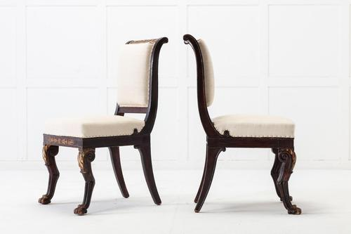 Pair of Early 19th Century French Side Chairs (1 of 6)