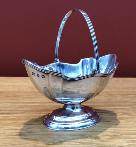 Late Victorian Solid Silver Swing Handle Sugar Basket- Birmingham 1894 (1 of 7)