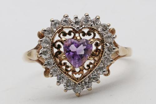 Vintage 9ct Gold Ring Set with Amethyst (1 of 4)
