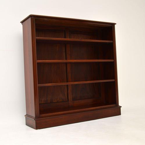 Antique Victorian Mahogany  Open Bookcase (1 of 12)