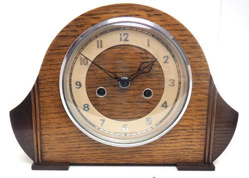 Art Deco Hat Shaped Mantel Clock – Striking 8-day Arched Top Mantle Clock (1 of 10)
