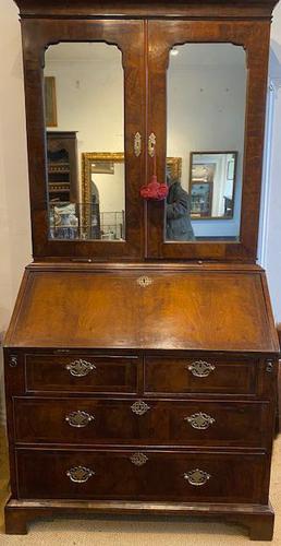 George I Walnut Bureau Bookcase (1 of 9)