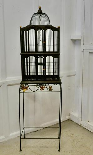 Wooden Canary Birdcage on Stand (1 of 6)