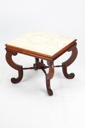 Antique Victorian Walnut Framed Stool (1 of 9)