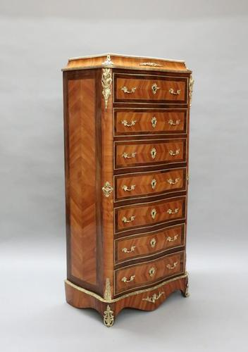 French Tulip and King Wood Ecritoire Writing Cabinet (1 of 8)