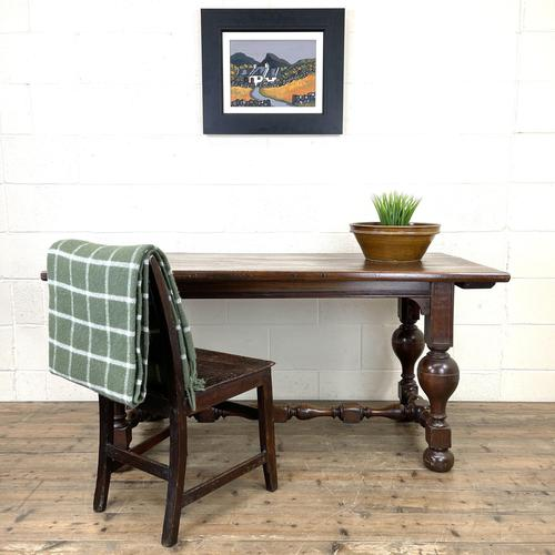 Antique Country Oak Dining Table (1 of 10)