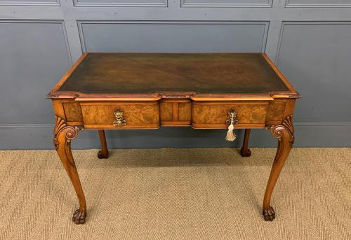Excellent Queen Anne Style Burr Walnut Writing Table (1 of 16)