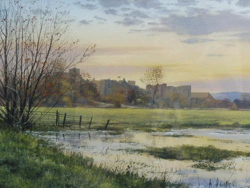 Watercolour Amberley Sunset Listed artist Andrew Dandridge (Free shipping to Mainland England) (1 of 10)