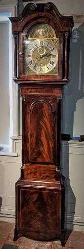 Late 18th Cent Mahogany 8 Day Longcase Grandfather Clock (1 of 6)