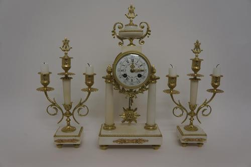 19th century Louis XVI Partico clock (1 of 9)