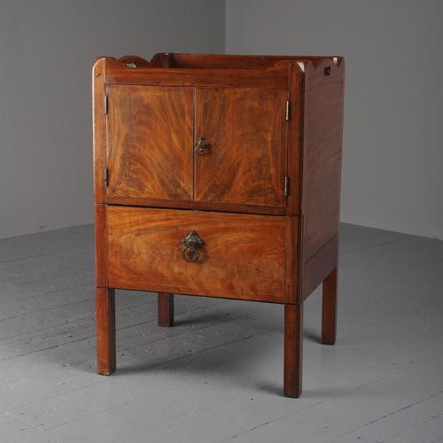 George III Mahogany Tray Top Bedside Commode (1 of 8)