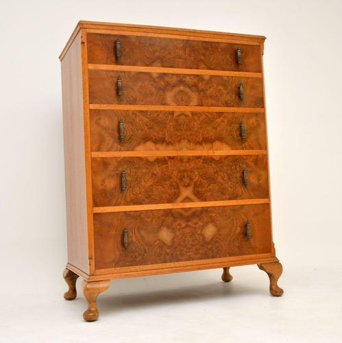 Antique Burr Walnut  Chest of Drawers (1 of 10)
