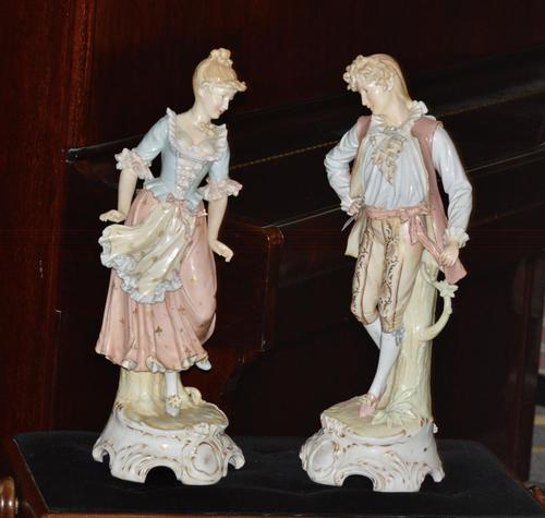 Substantial Pair of Late 19th Century, Continental Porcelain Figures (1 of 5)
