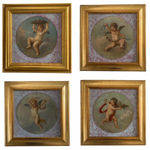 19th Century Italian School Series of Four Roundels (1 of 5)