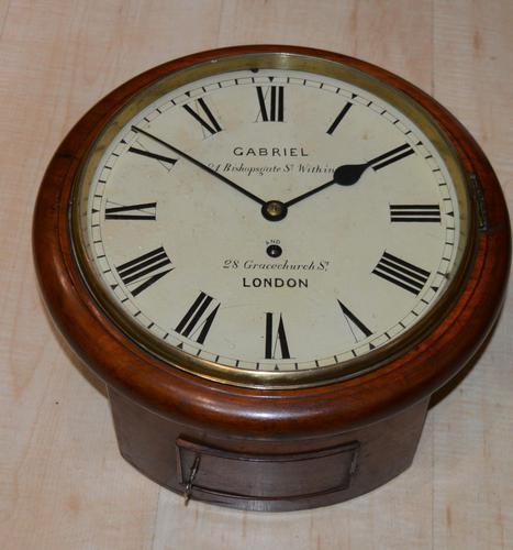 "Small 10"" Dial Fusee Wall Clock, Gabriel London (1 of 5)"