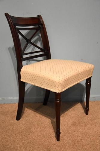 Elegant Single Regency Period Mahogany Side Chair (1 of 7)
