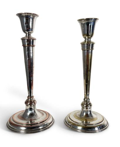 Two Plated Candlesticks (1 of 4)