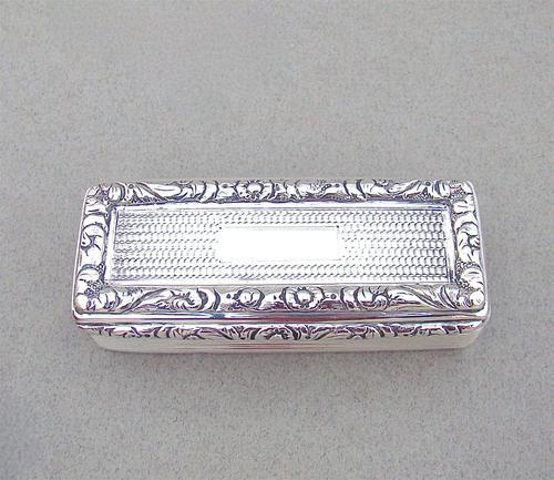 Georgian Silver Snuff Box by Edward Smith, Birmingham 1828 (1 of 8)