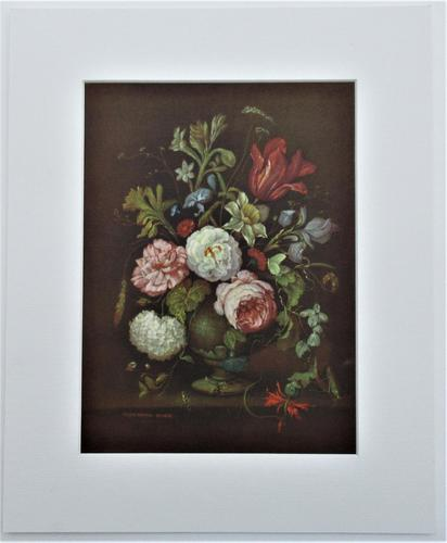 Vintage lithograph print after Bice Giachino, Still Life with Flowers, c1930, Stehli Freres (1 of 4)