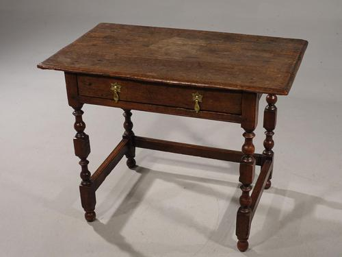 Late 17th / Early 18th Century Single Drawer Oak Side Table (1 of 6)