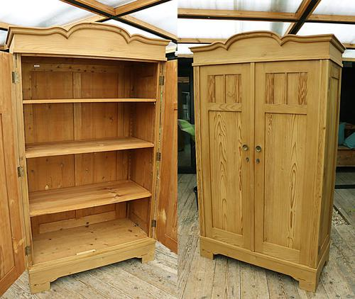 Fantastic! Old Pine 'Knock Down' Cupboard/ Wardrobe With Shelves - We Deliver! (1 of 14)
