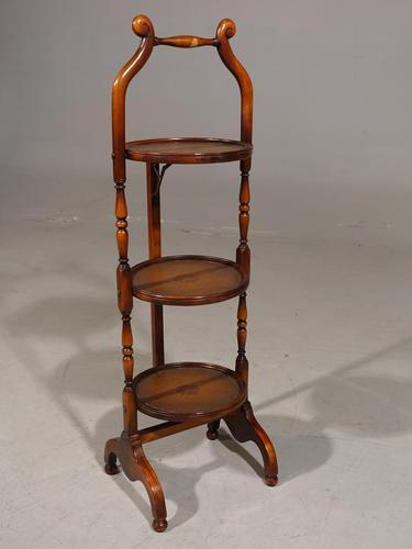 Elegant 1920's Walnut 3 Tier Tilting Cake Stand (1 of 6)