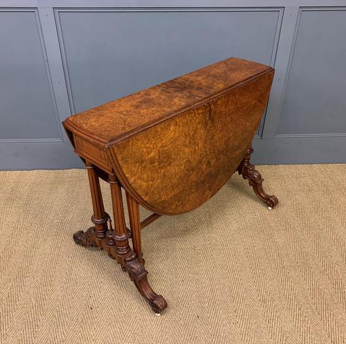 Large Victorian Burr Walnut Sutherland Table (1 of 16)