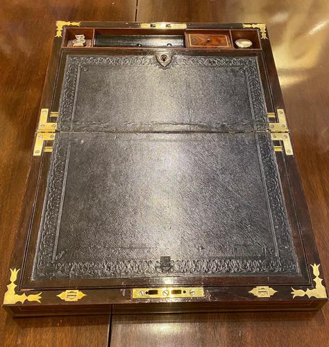 Good Quality Rosewood Writing Slope / Box by the Famous Maker William Eyre (1 of 12)