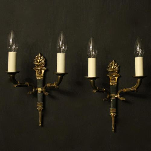 French Pair of Empire Gilded Wall Lights (1 of 10)
