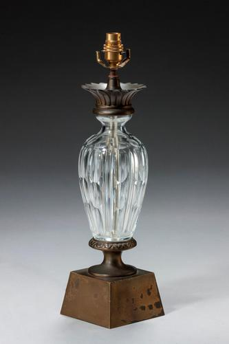Single 1920's Cut Glass Lamp (1 of 3)