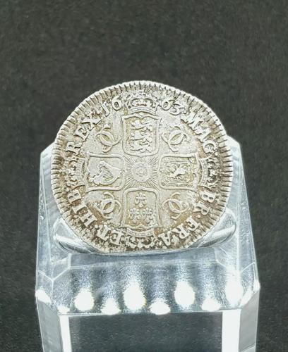 Rare Silver Charles II 1663 Shilling Good Condition (1 of 2)