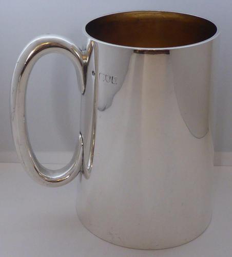 Victorian 1890 Hallmarked Solid Silver 1 One Pint Tankard Christening Mug (1 of 8)