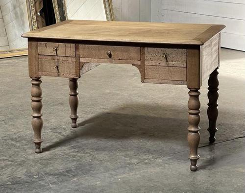 French Bleached Oak Writing Desk (1 of 21)