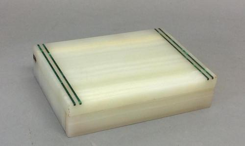 Early 20th Century Marble Cigarette Box (1 of 4)