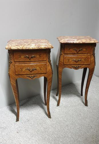 Superior Pair of French Kingwood Bedside Chests of Drawers (1 of 14)