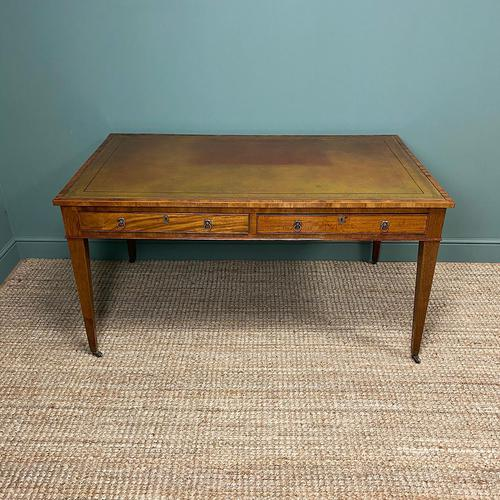Fine Large Georgian Antique Partners Writing Table (1 of 7)