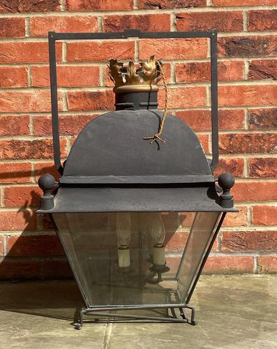 Large Antique Copper & Iron Lantern c.1900 (1 of 6)