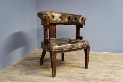 Oak & Leather Office Chair (1 of 4)