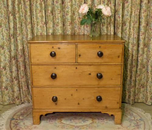 Regency Stripped Pine Chest of Drawers with Original Knobs (1 of 8)