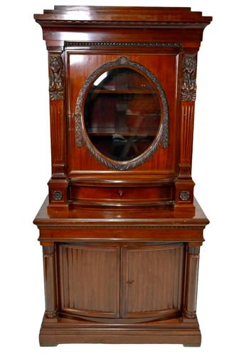Antique Egyptian Revival Library Salon Cabinet (1 of 5)