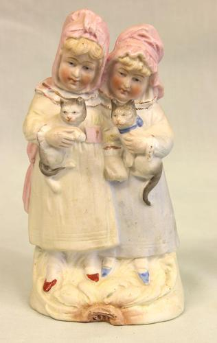 Antique Bisque Figure of Children (1 of 6)