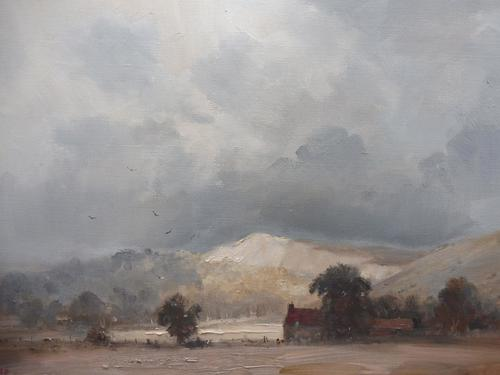 Oil on Canvas Lewes View Listed Artist Marcus Holley Ford (1 of 10)