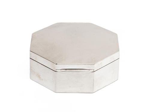Chester Silver Octagonal Jewellery Box (1 of 3)